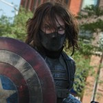 Winter Soldier carrying Captain America's shield