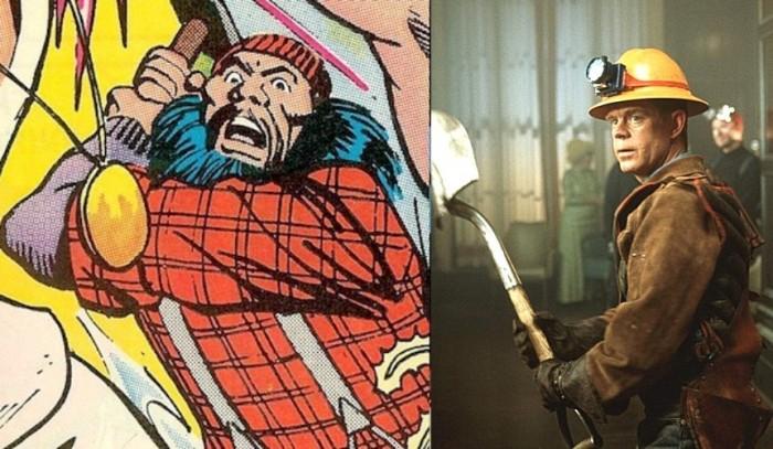 Lumberjack of Supergirl and Shoveler of Mystery Men