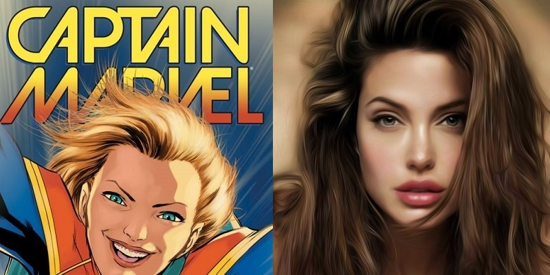 Angelina Jolie For Captain Marvel