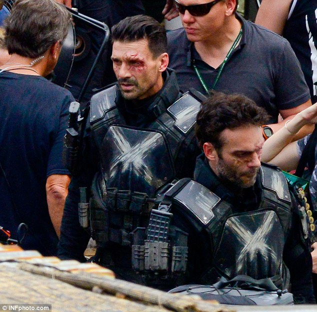 Frank Grillo and his stunt double