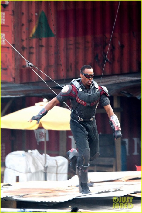 First look at Anthony Mackie as Falcon in action