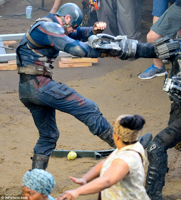 Once again, Captain America takes a beating...