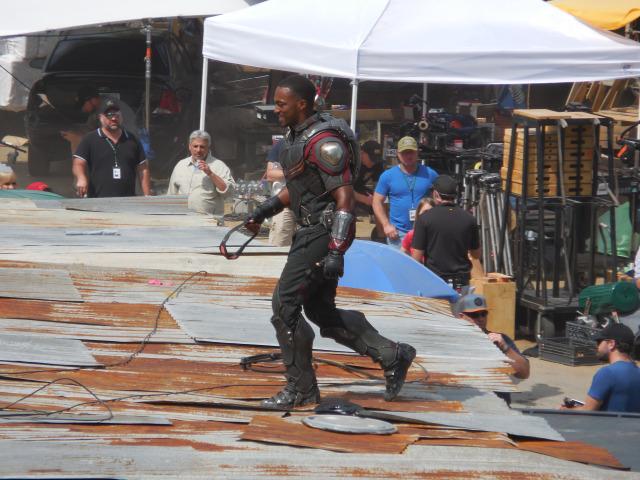 On the set of Civil War