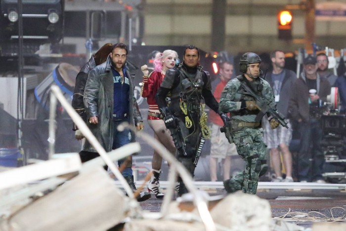 Suicide Squad Set Photo