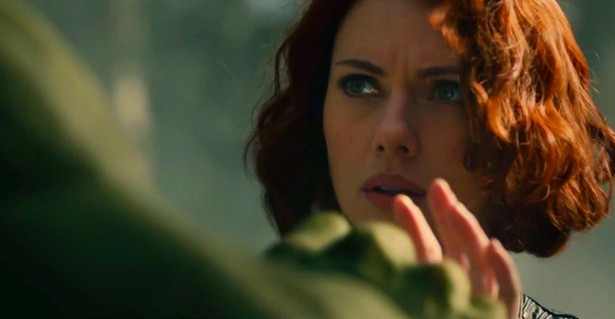 The Hulk and Black Widow in Age of Ultron