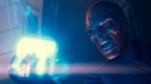 Red Skull with the Tesseract