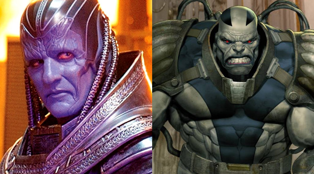 Apocalypse as he will appear in the X-Men: Apocalypse movie and as he is in the comics
