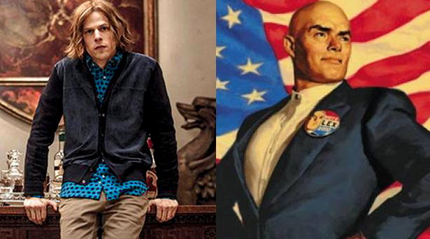 Lex Luthor as he will appear in the Batman v Superman movie and as he is in the comics