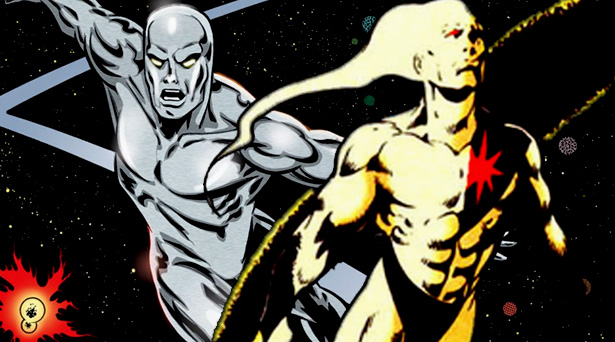 Silver Surfer and Takion