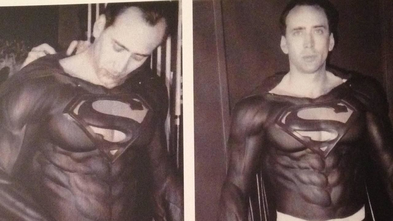 Superman with a bald spot