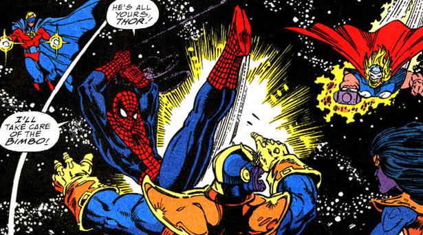 Thanos Vs Heroes