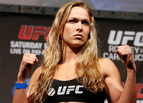 Ronda Rousey with her game face on