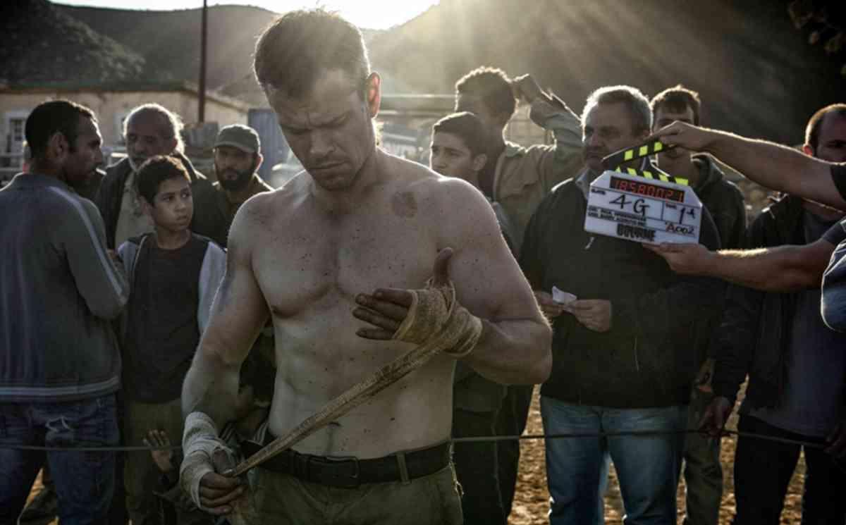 Matt Damon, on the set of Bourne 5