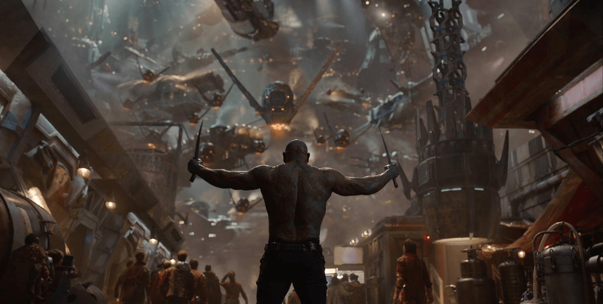 Drax takes head-on an entire fleet