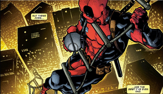 Deadpool also known as Merc with a Mouth due to his tendency of being talkative