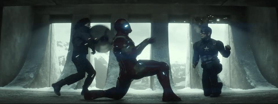 Captain America and Bucky vs. Iron Man