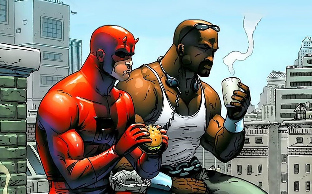 Daredevil and Luke Cage