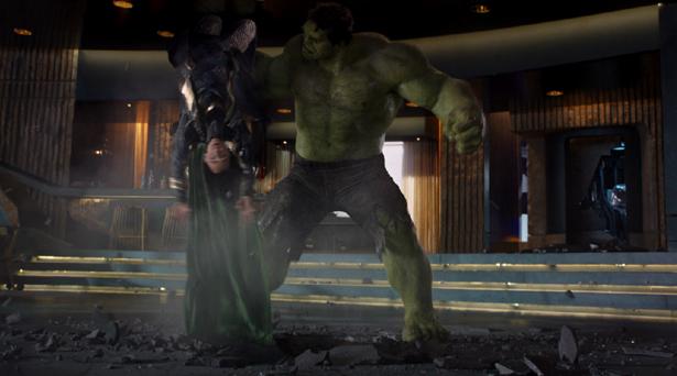 Hulk smashing Loki