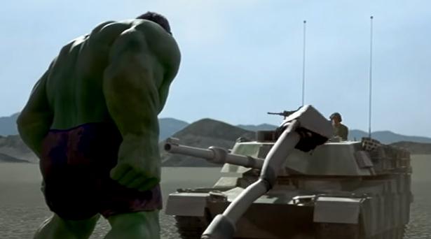 Hulk smashing tanks