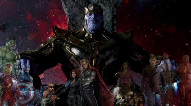 Thanos, the Avengers and the Guardians of the Galaxy