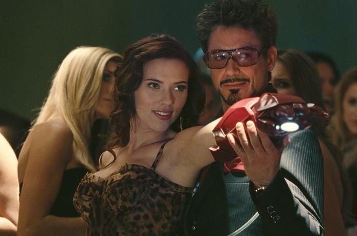 Natasha Romanoff and Tony Stark