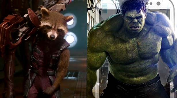 Rocket Raccoon and Hulk