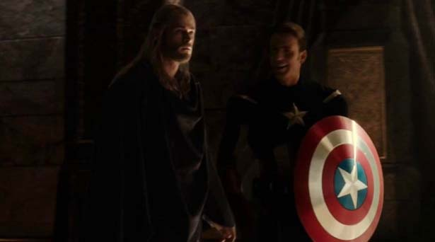 Thor and Loki as Captain America