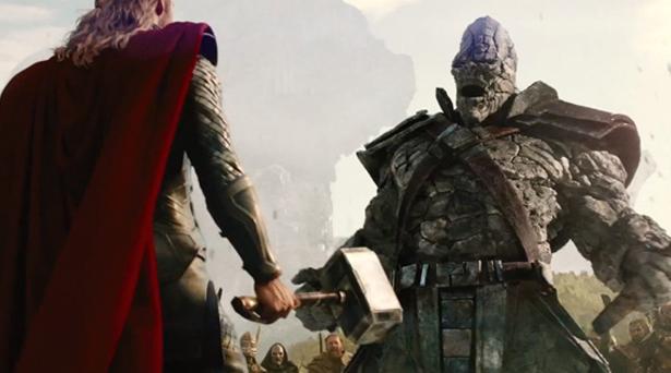 Thor versus the rock warrior