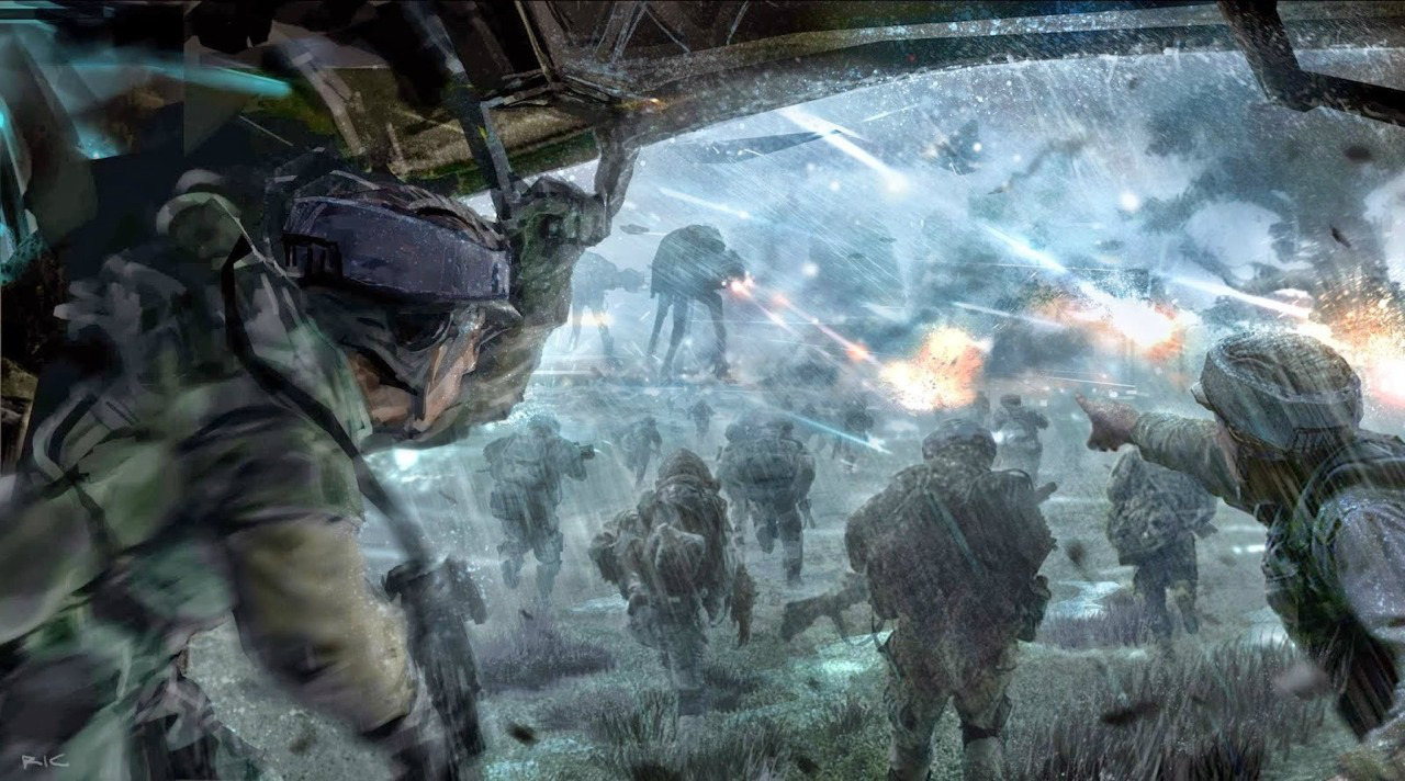 Concept art for Rogue One