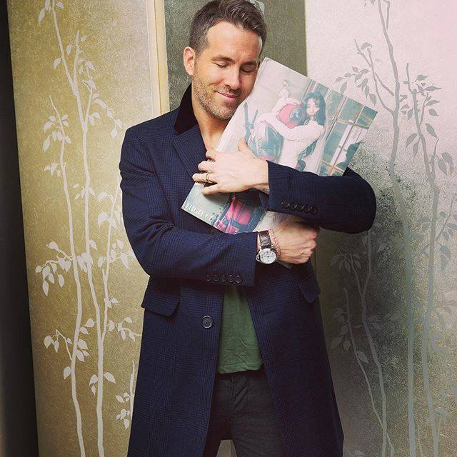 Ryan Reynolds with the Korean Magazine's particular issue!