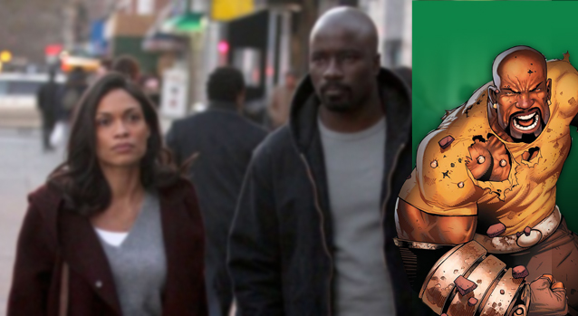 Claire Temple and Luke Cage