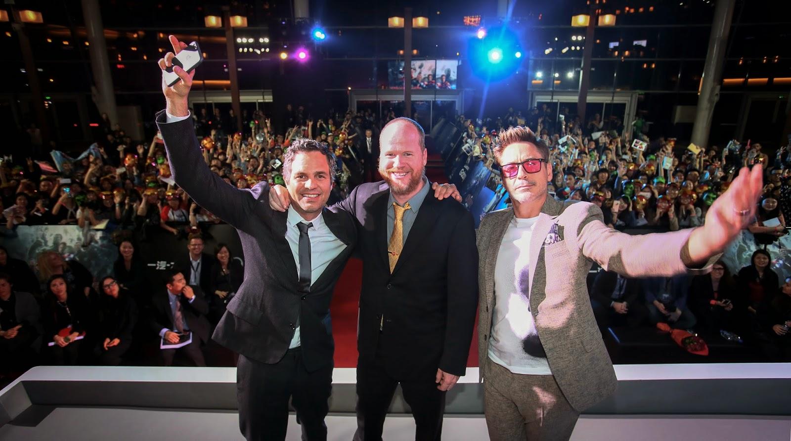 Mark Ruffalo, Joss Whedon and Robert Downey Jr.