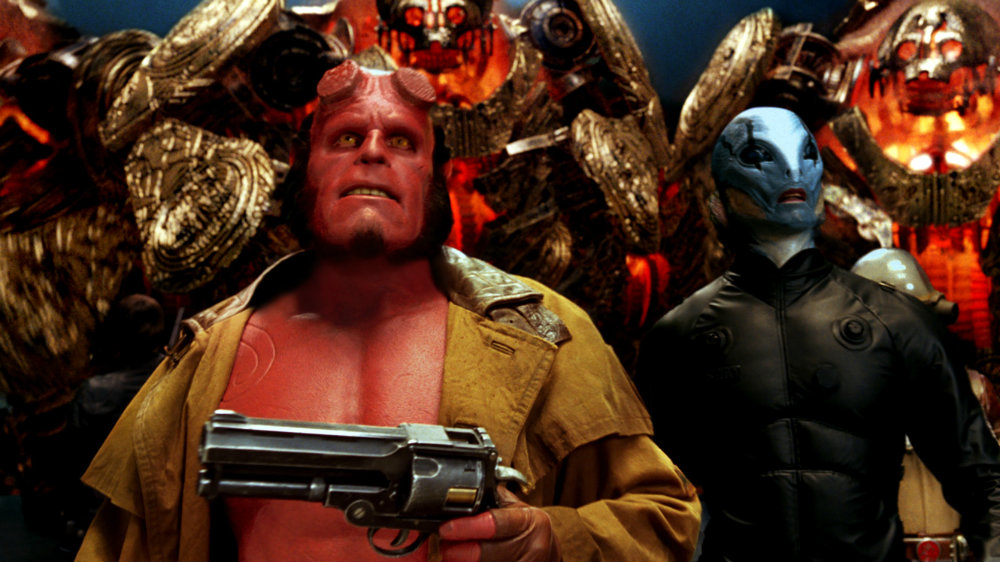 Ron Perlman and Doug Jones in Hellboy 2: The Golden Army