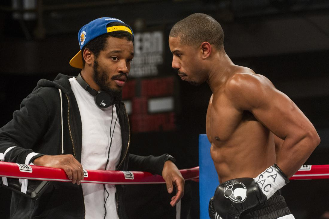 Ryan Coogler and Michael B. Jordan filming Creed