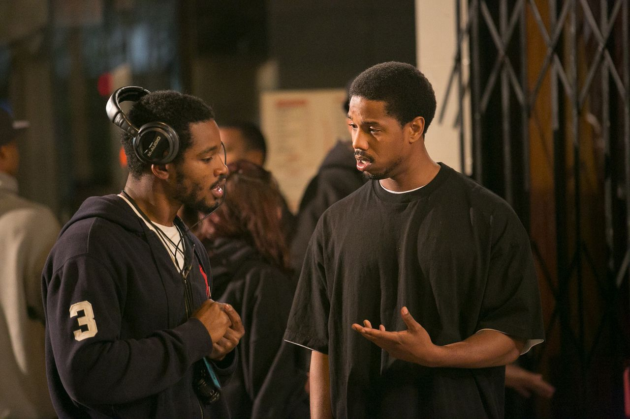 Ryan Coogler and Michael B. Jordan filming Fruitvale Station
