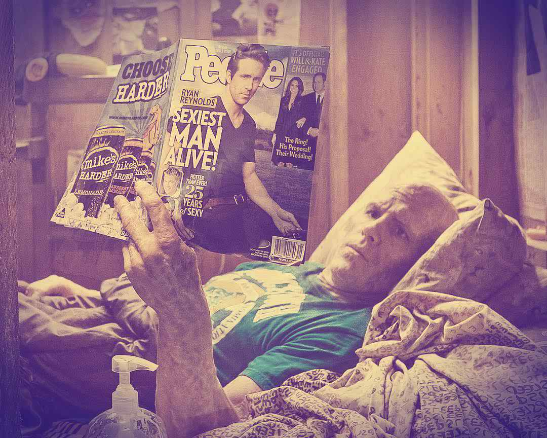 Wade Wilson reading the particular People Magazine issue!