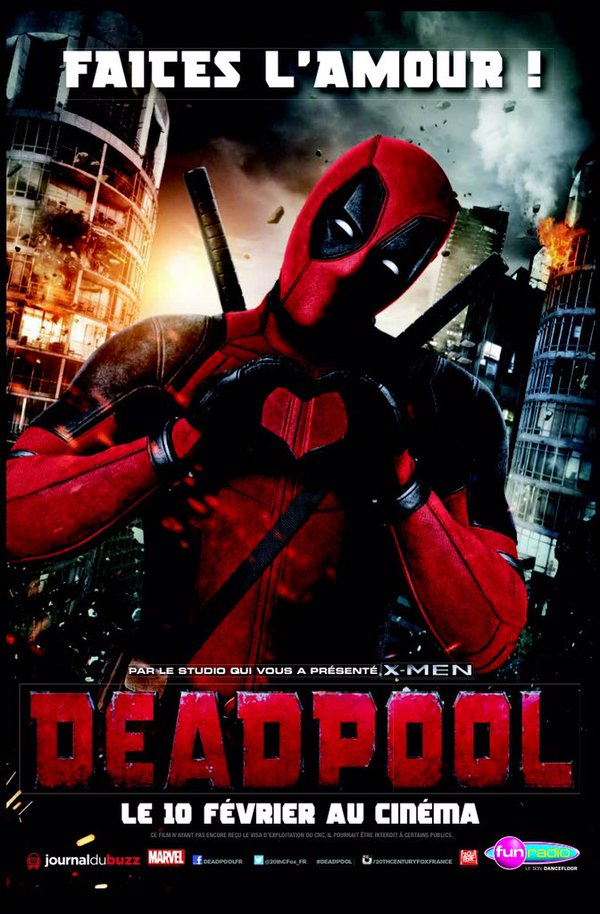 French poster for Deadpool movie!