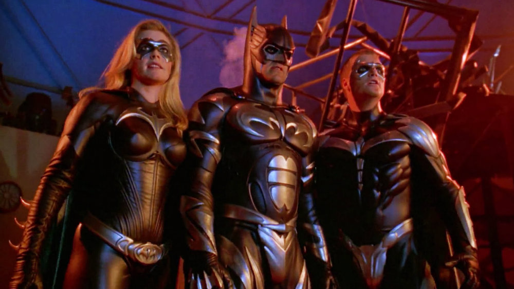 Alicia Silverstone, George Clooney and Chris O'Donnell in Batman and Robin