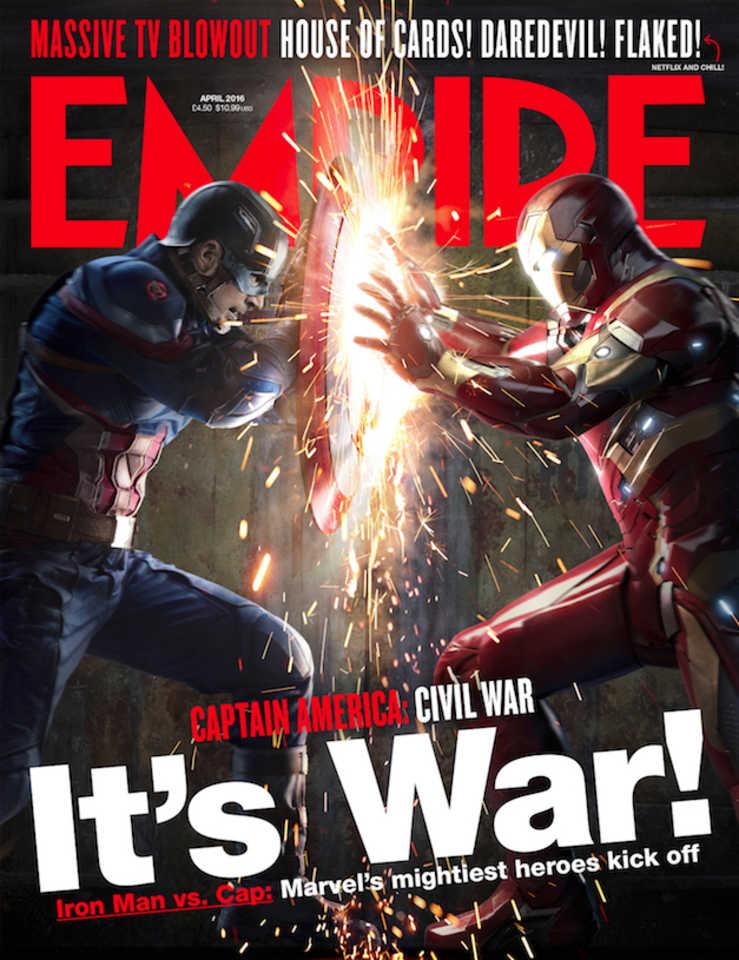 Empire's Captain America: Civil War cover