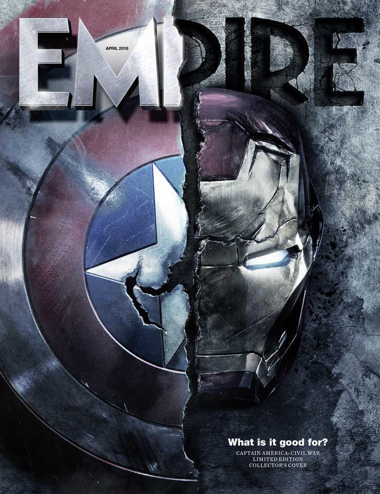 Empire's Captain America: Civil War subscribers cover