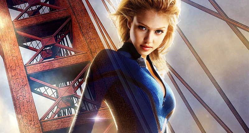 Jessica Alba as the Invisible Woman