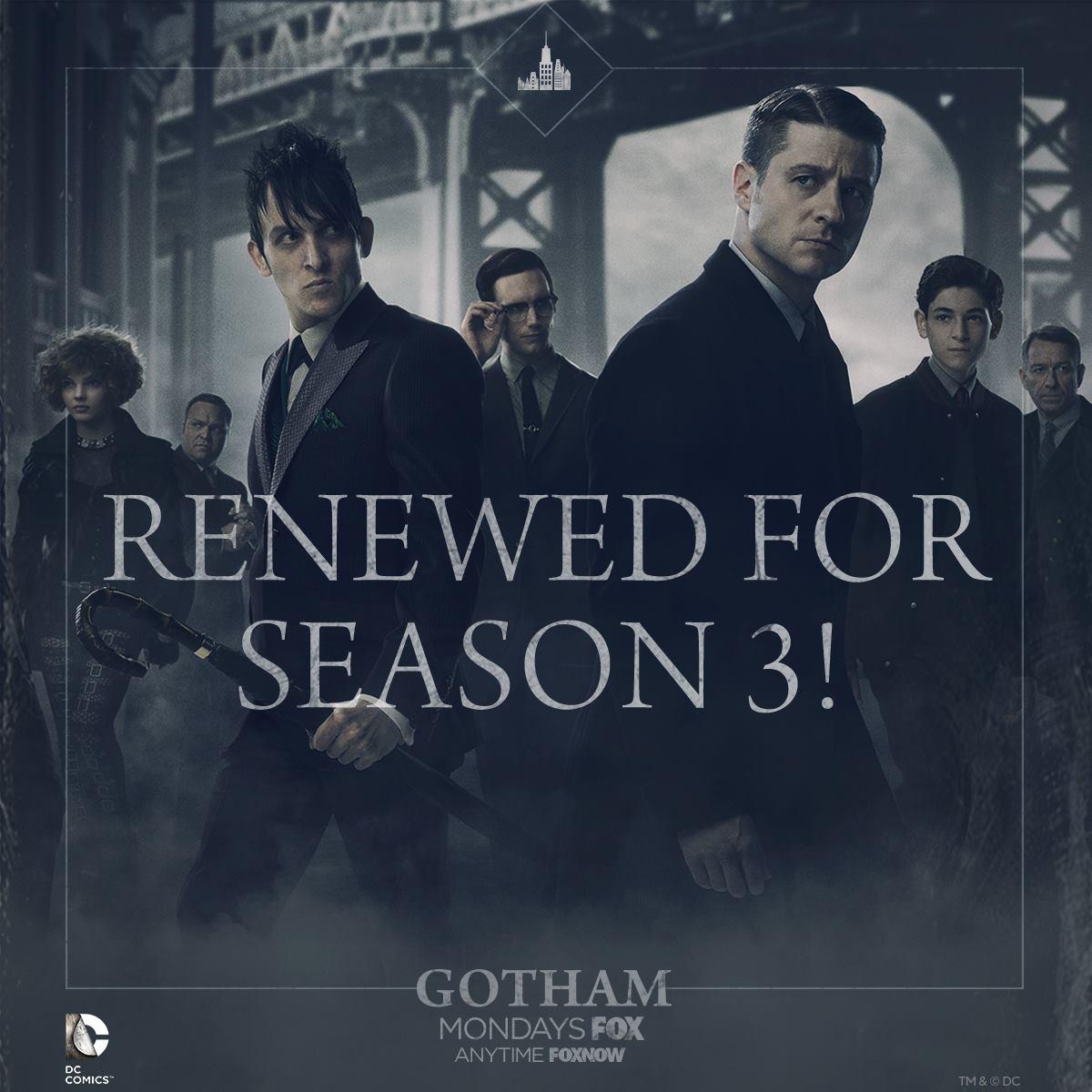 Gotham renewed for Season 3