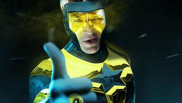 Nathan Fillion as Booster Gold fan art