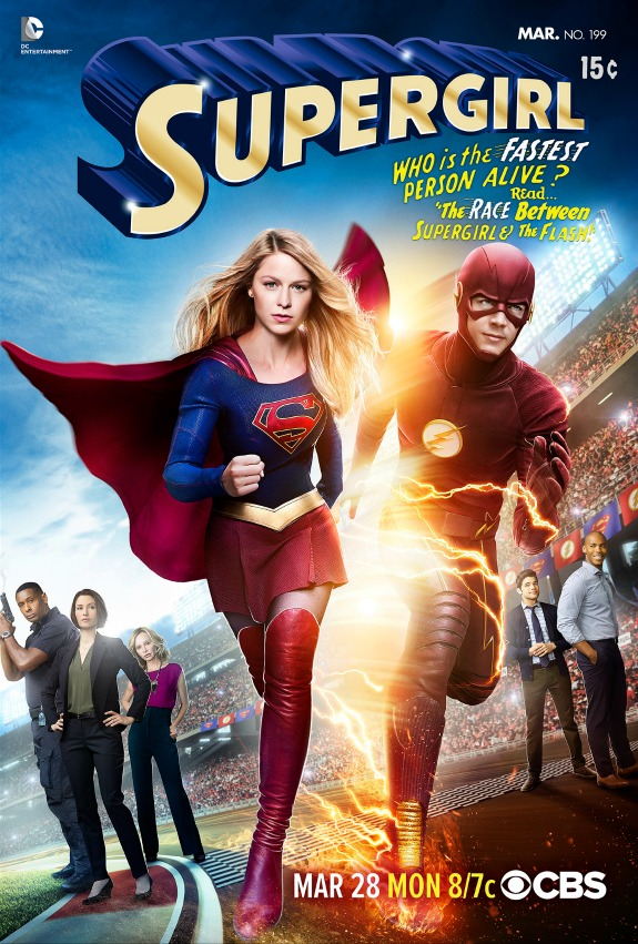 Poster for Supergirl crossover with The Flash released