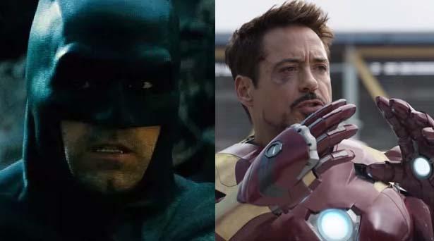 Batman & Iron Man. Sources: Warner Brothers / Marvel Studios