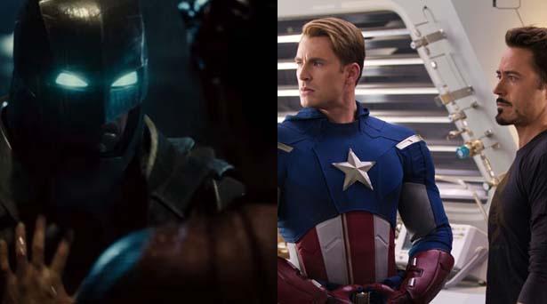 Batman, Superman, Captain America & Iron Man. Sources: Warner Brothers / Marvel Studios