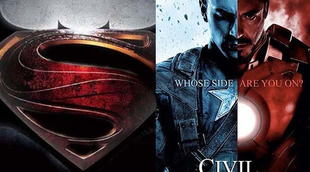 Batman v Superman & Civil War. Sources: Warner Brothers / Marvel Studios