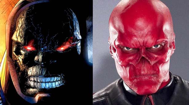 Darkseid & Red Skull. Sources: DC Comics / Marvel Studios