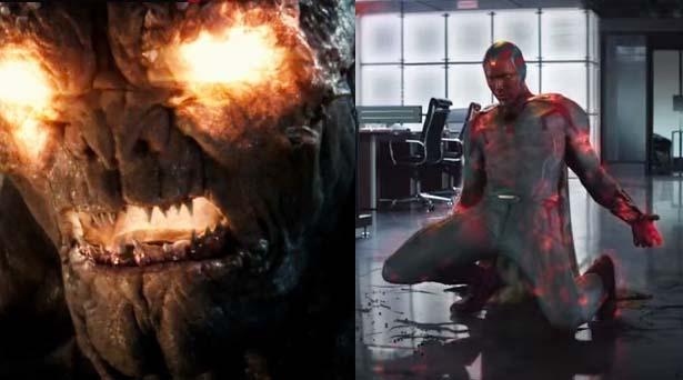 Doomsday & Vision. Sources: Warner Brothers / Marvel Studios