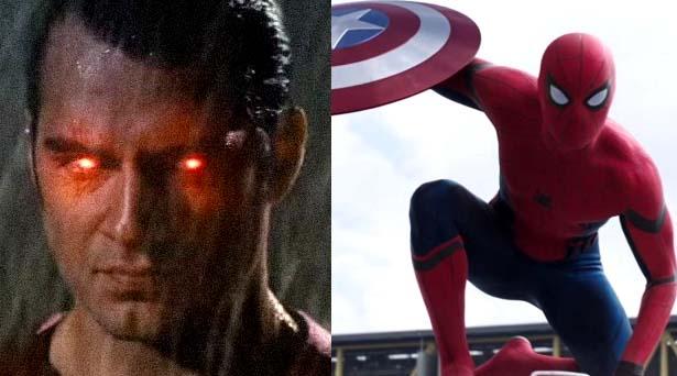 Superman & Spider-Man. Sources: Warner Brothers / Marvel Studios